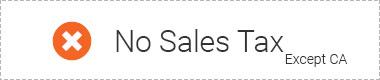 NO sale tax